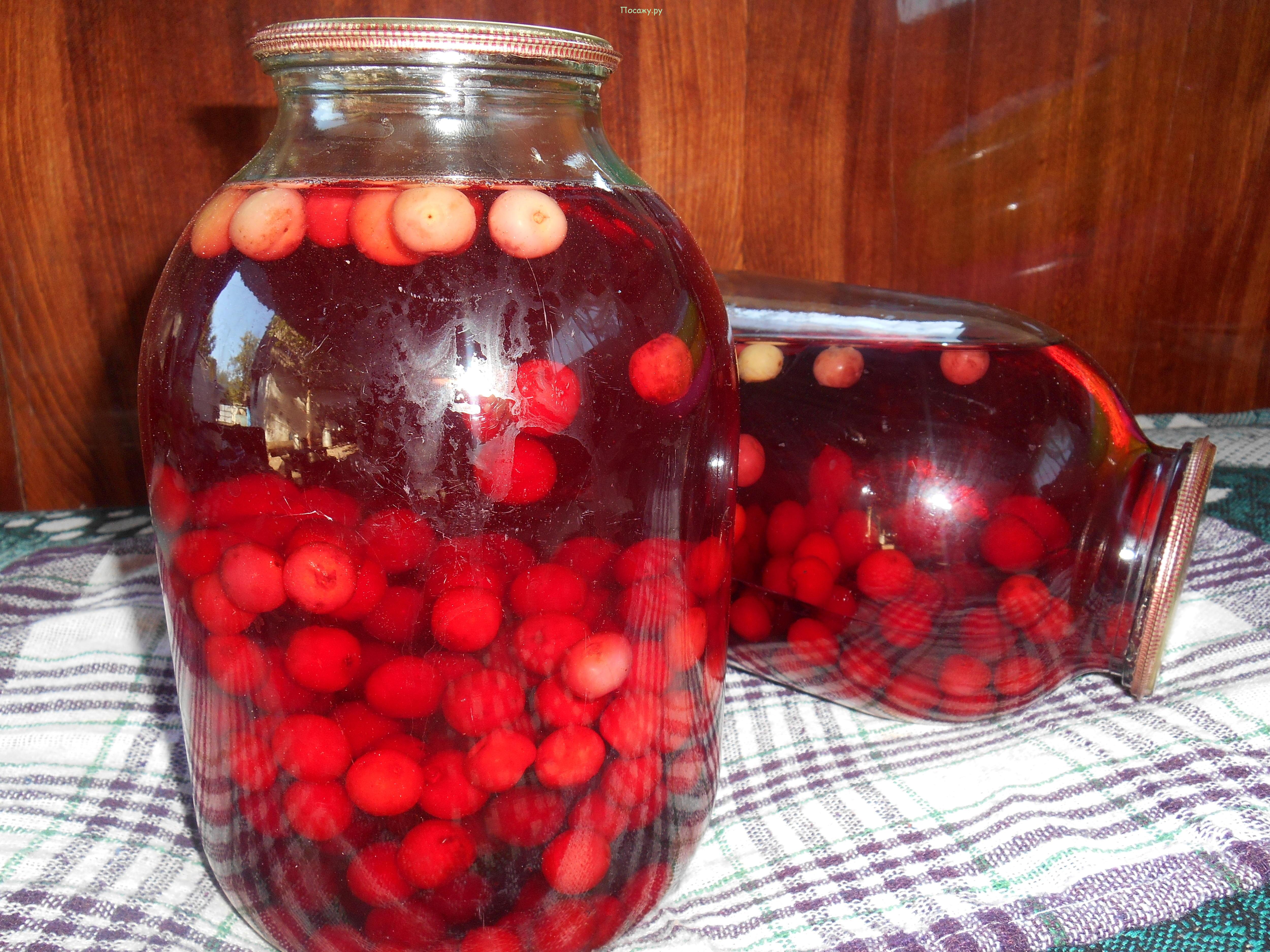 компот из вишни на зиму на 3 литровую банку