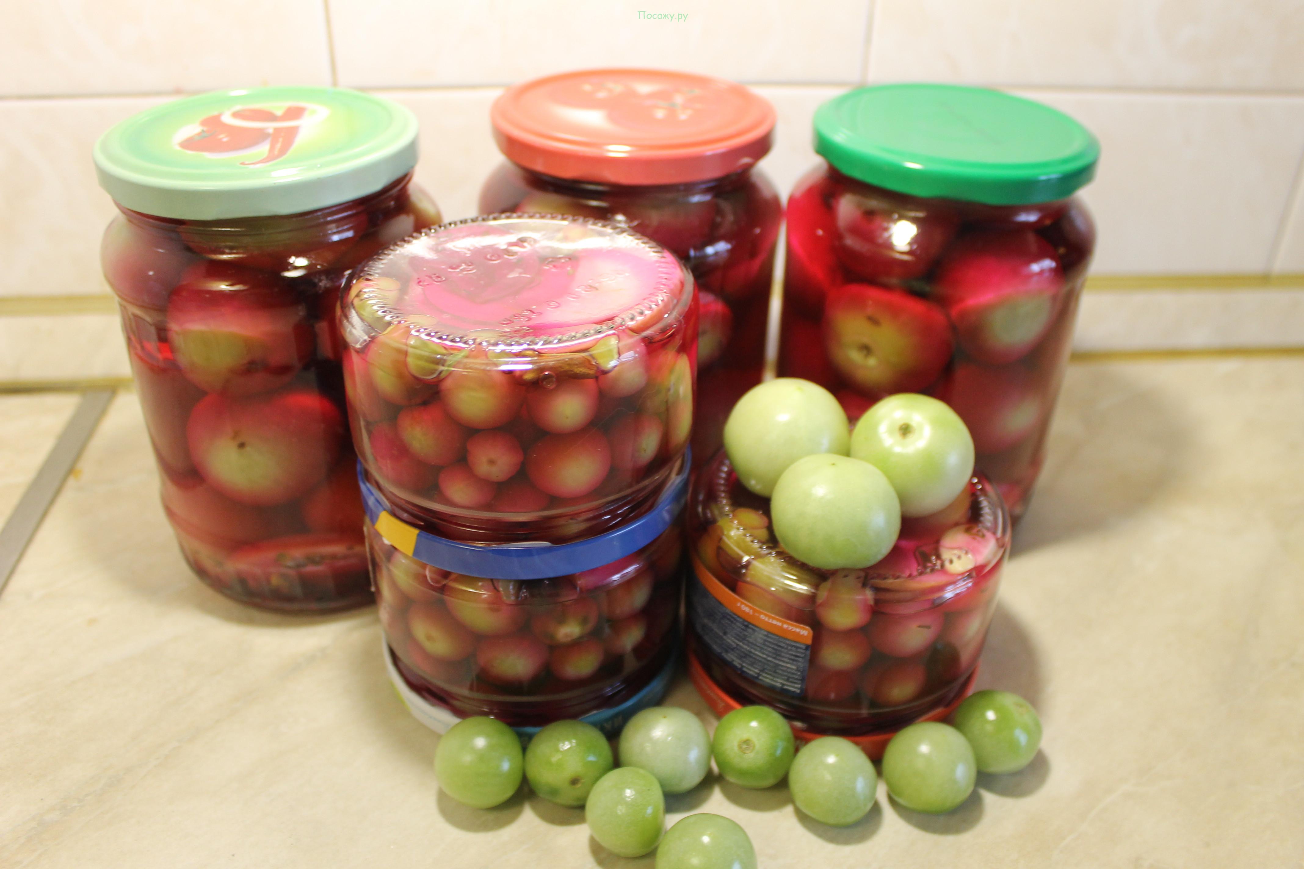 зеленые помидоры на зиму самый вкусный рецепт без стерилизации