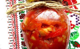 Салат на зиму: из кабачков, помидоров, моркови и сладкого перца