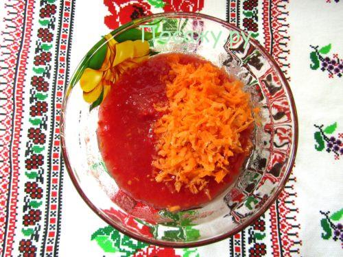морковь и томат
