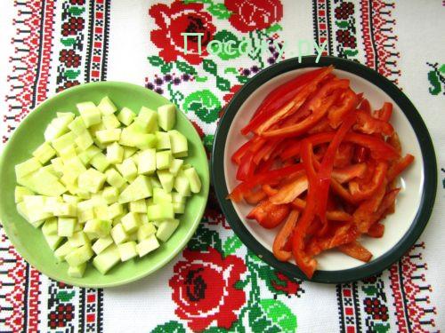 кабачки и перец