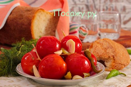 Квашеные помидоры на зиму красные