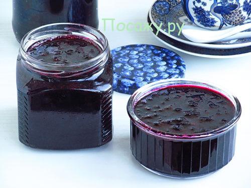 джем из черники и красной смородины
